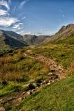Una pista en las colinas del distrito del lago, Inglaterra, Reino Unido Imagen de archivo libre de regalías