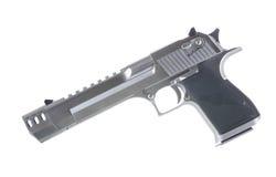una pistola di 50 calibri isolata su fondo bianco lasciato Fotografie Stock Libere da Diritti