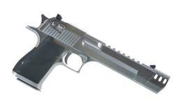 una pistola di 50 calibri isolata sulla destra bianca del fondo Immagine Stock