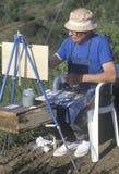 Una pittura a olio dell'anziano, Immagini Stock