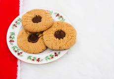 Una placa de galletas Fotos de archivo