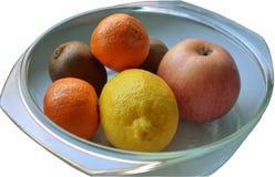 Una placa de la fruta Aislado Imágenes de archivo libres de regalías