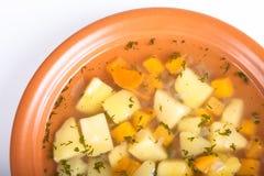 Una placa de la sopa de patata Imagen de archivo libre de regalías