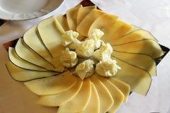 una placa de queso Fotos de archivo