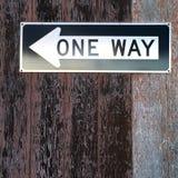 Una placa del camino de la manera Imagen de archivo