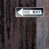 Una placa del camino de la manera Imagen de archivo libre de regalías