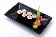 Una placa del sushi fotografía de archivo