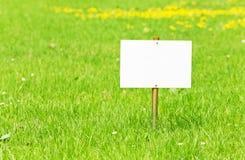 Una placa vacía para el texto Imagen de archivo libre de regalías