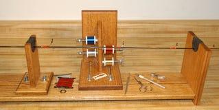 Una plantilla de la barra usada para construir las cañas de pescar de encargo Fotografía de archivo libre de regalías