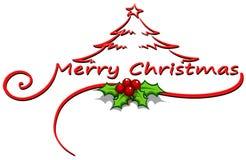 Una plantilla de la decoración de la tarjeta de Navidad Imagen de archivo libre de regalías