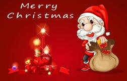 Una plantilla de la tarjeta de Navidad Fotos de archivo
