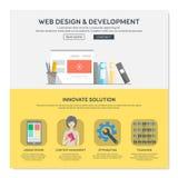 Una plantilla del diseño web de la página Imagen de archivo