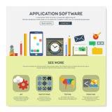 Una plantilla del diseño web de la página Foto de archivo