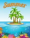 Una plantilla del verano Imagen de archivo libre de regalías