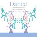 Una plantilla para una clase de danza libre illustration