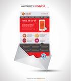 Una plantilla plana del diseño del sitio web UI de la página Fotos de archivo libres de regalías