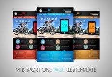 Una plantilla plana del diseño del sitio web UI del DEPORTE de la página stock de ilustración