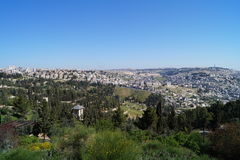 Una plataforma panorámica en Jerusalén Fotografía de archivo