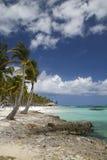 Una playa acogedora imagenes de archivo