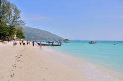 Una playa beuatiful scenary en la playa Foto de archivo libre de regalías