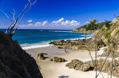 Una playa cerca de Byron Bay Imagen de archivo libre de regalías