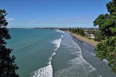 Una playa de Nueva Zelanda Imagen de archivo libre de regalías