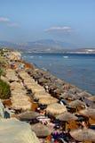 Una playa de oro en la isla del kefalonia en Grecia Foto de archivo libre de regalías