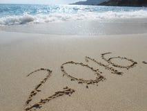 2016 una playa del mar Imagen de archivo libre de regalías