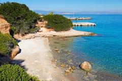 Una playa en Agistri, Grecia Imagen de archivo