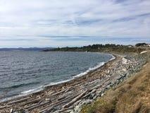 Una playa en Columbia Británica Foto de archivo