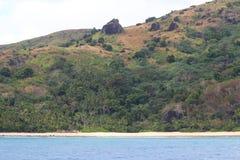 Una playa en la isla de Wayasewa, islas de Yasawa, Fiji imagen de archivo libre de regalías