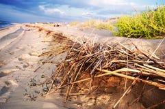 Playa en la salida del sol en Sicilia Imagen de archivo