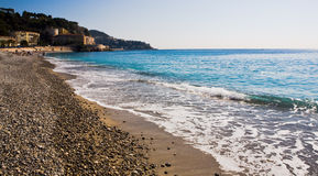 Una playa más agradable de Francia Foto de archivo