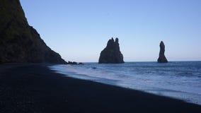 Una playa negra Imagen de archivo libre de regalías
