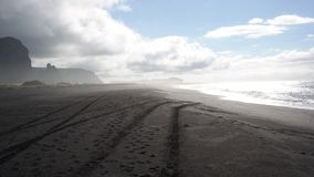Una playa negra Imagenes de archivo