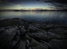 Una playa rocosa Fotografía de archivo
