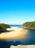 Una playa tropical en Australia Imágenes de archivo libres de regalías