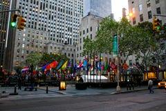 Una plaza di 30 Rockefeller, New York, NY Fotografie Stock Libere da Diritti