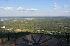 Una plaza di sette stati ai giardini della città della roccia a Chattanooga, Tennessee Fotografie Stock Libere da Diritti