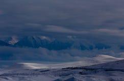 Una poca luz golpea las colinas Foto de archivo libre de regalías