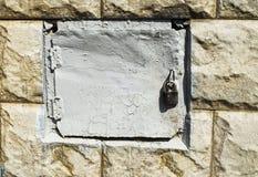 Una poca porta del ferro Immagini Stock