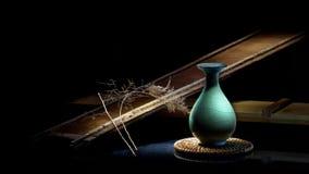 Una porcelana azul delicada Imagen de archivo