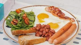 Una porción hermosa del desayuno inglés Cierre para arriba imágenes de archivo libres de regalías