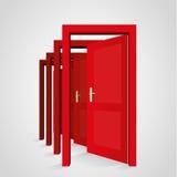 Una porta apre un'altra porta Fotografia Stock Libera da Diritti