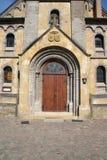 Una porta della cappella Immagine Stock