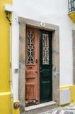 Una porta di due colori Immagini Stock