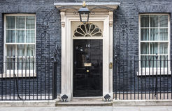 Una porta di entrata di 10 Downing Street a Londra Immagini Stock Libere da Diritti
