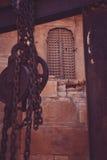 Una porta nella fortificazione di Jaisalmer, India Fotografia Stock Libera da Diritti