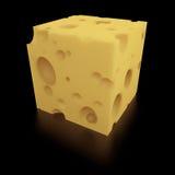 Una porzione perfetta di formaggio svizzero illustrazione vettoriale