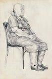 Una posa dell'anziana Fotografia Stock